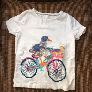 Mini Biden 4-5 shirt with duck riding bike